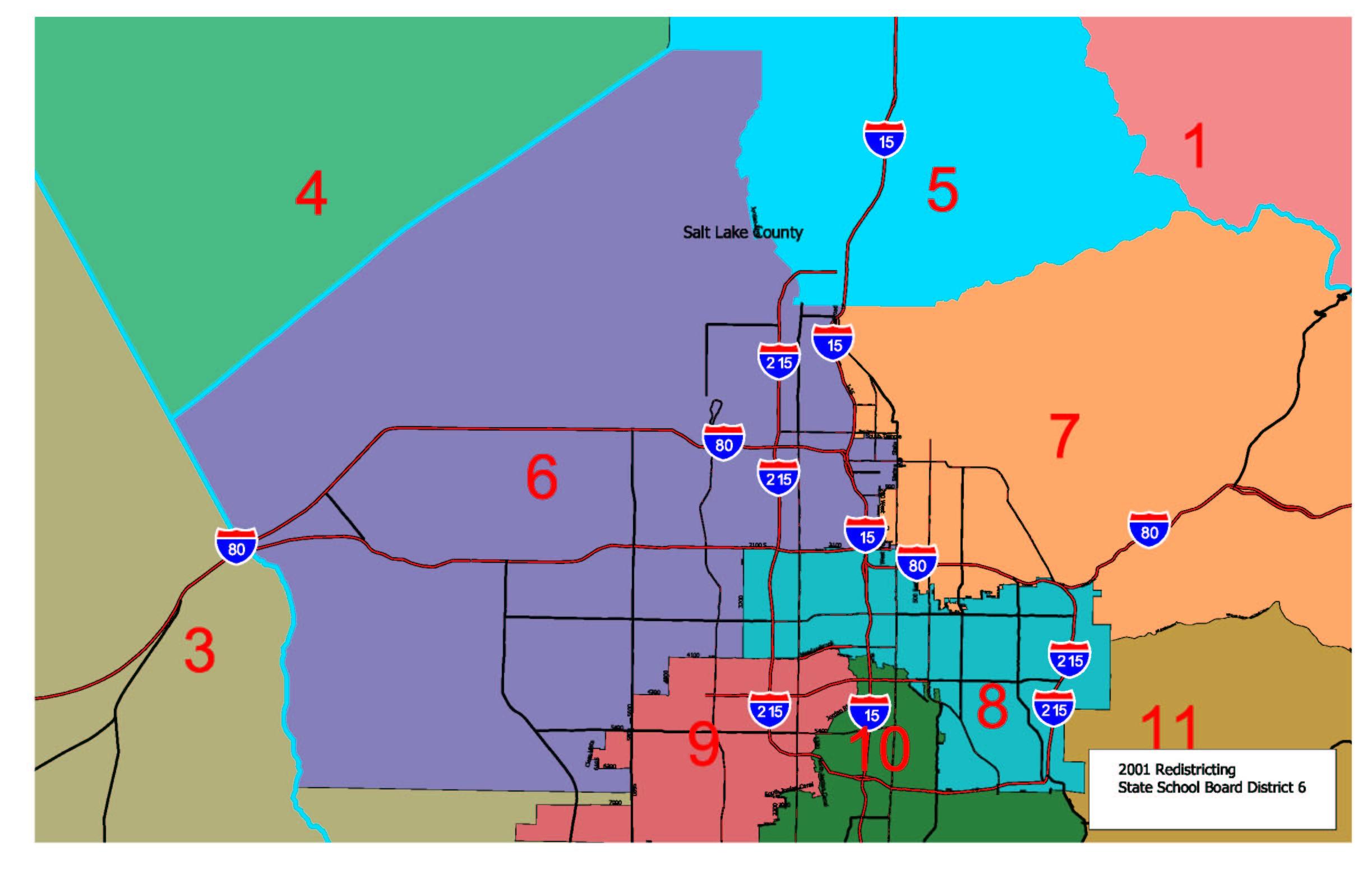 Utah Legislature - Map of utah county